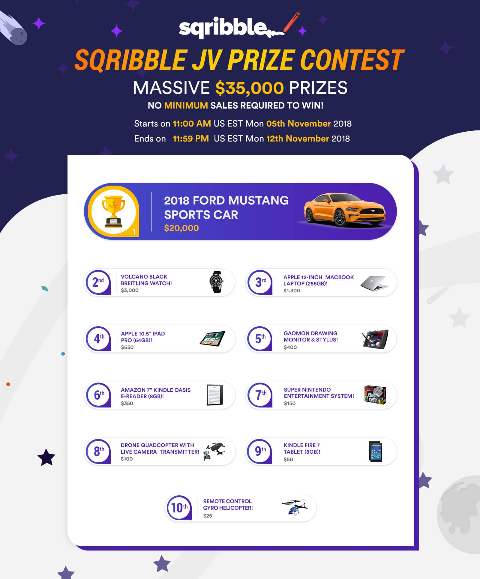 JV PRIZE CONTEST - worth $35,000